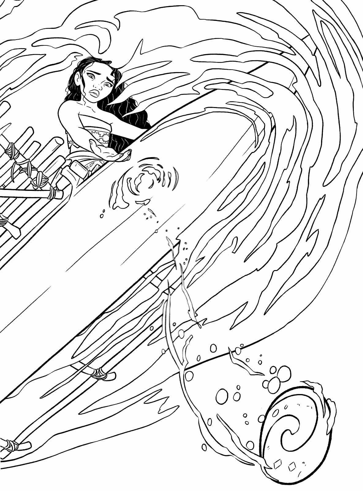 Desenho da Moana para imprimir