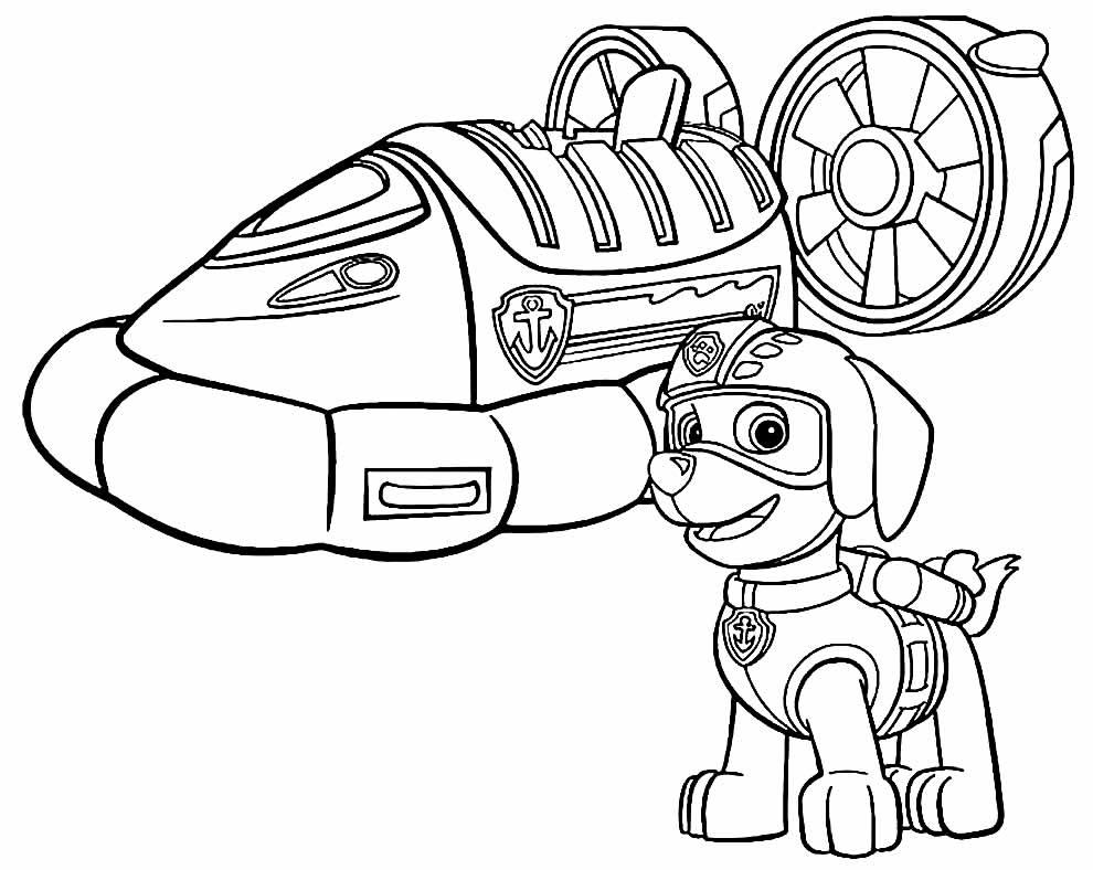Desenho da Patrulha Canina para pintar e colorir