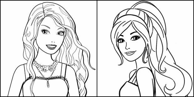 Desenhos da Barbie para colorir