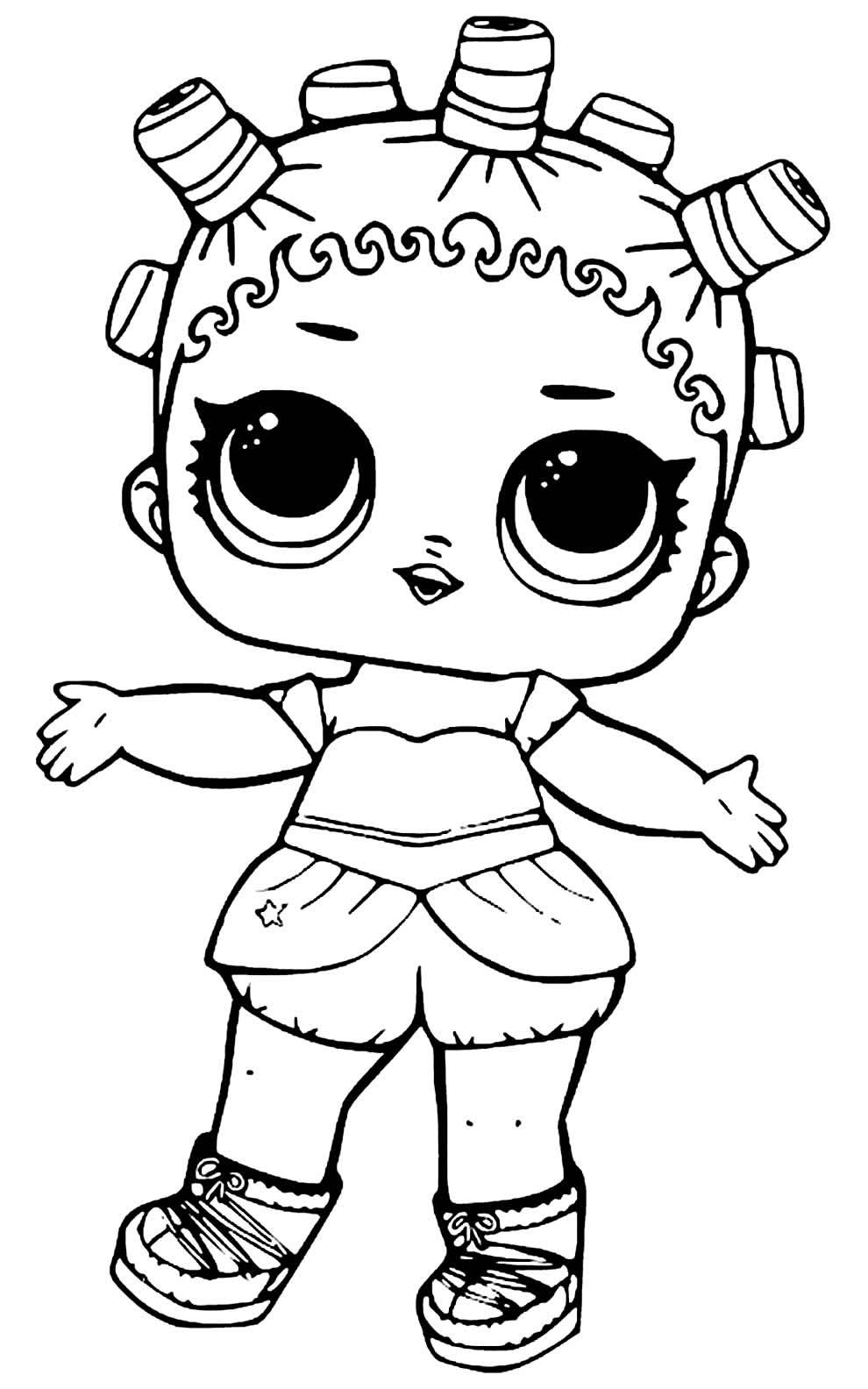 Imagem para colorir da Boneca LOL