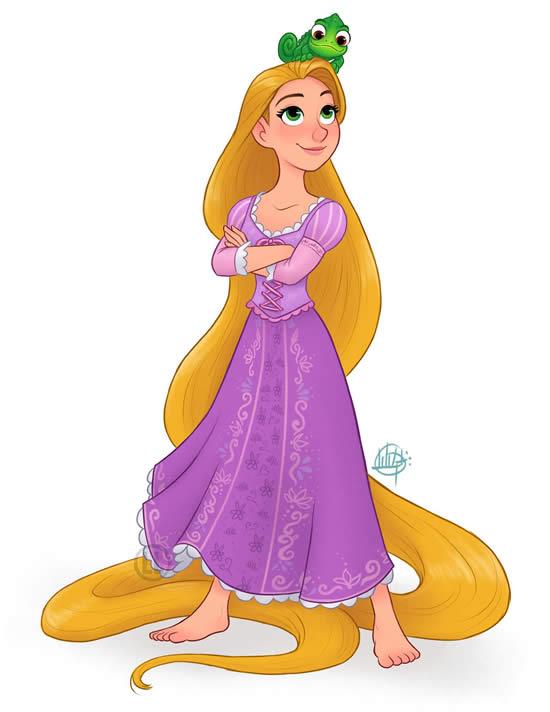 Desenho da Rapunzel