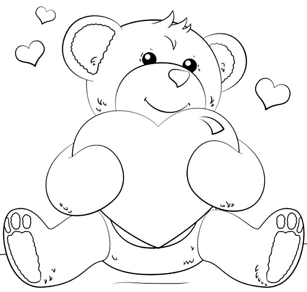 Desenho de ursinho com coração
