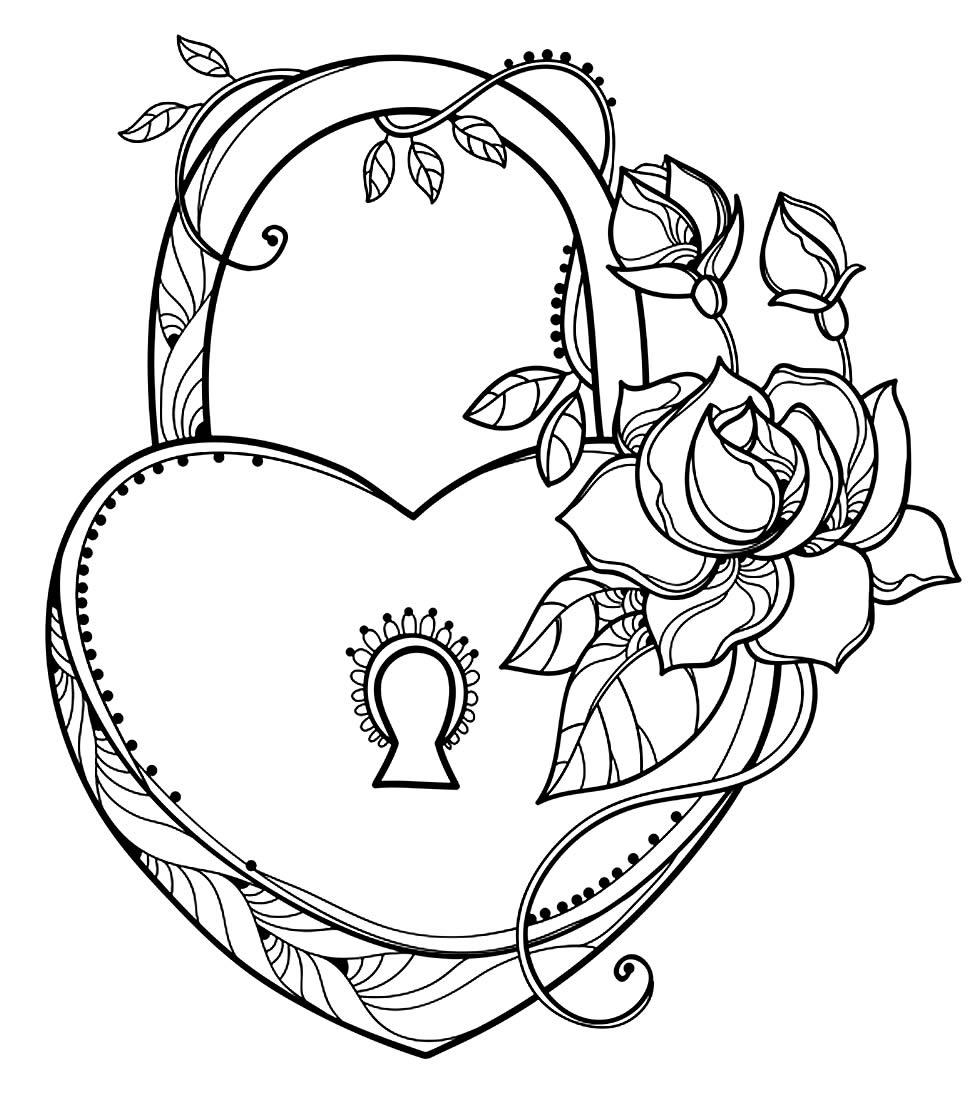 Desenho lindo de coração
