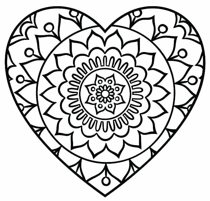 Lindo desenho de coração para pintar e colorir