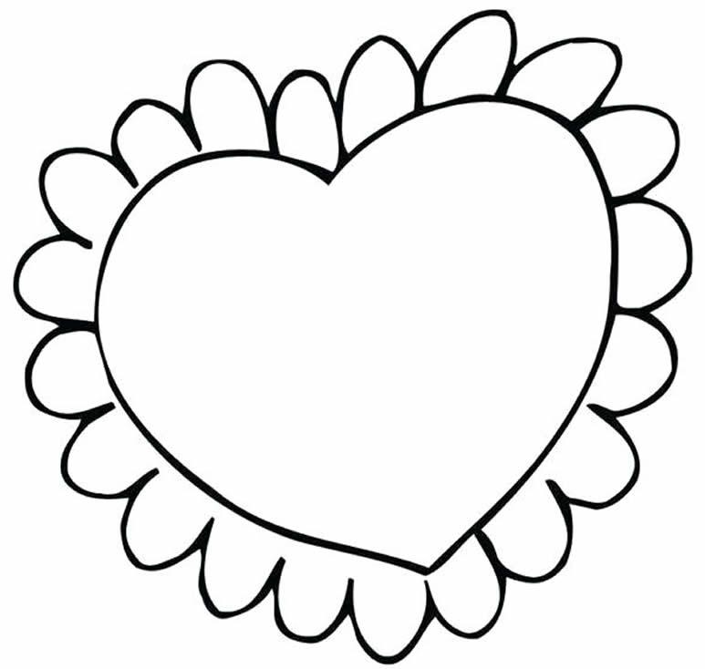 Desenho de coração para colorir