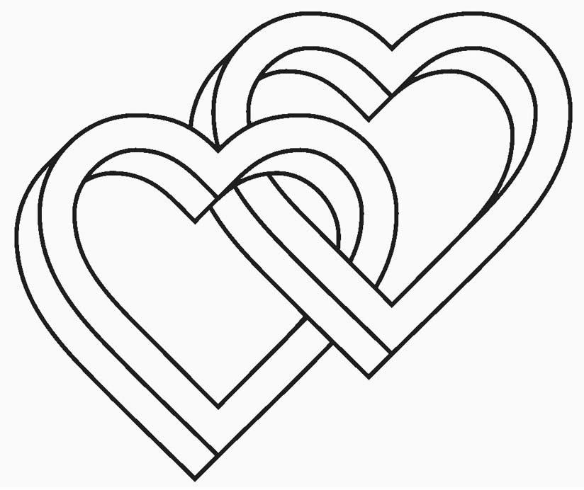 Desenho de coração para imprimir e colorir