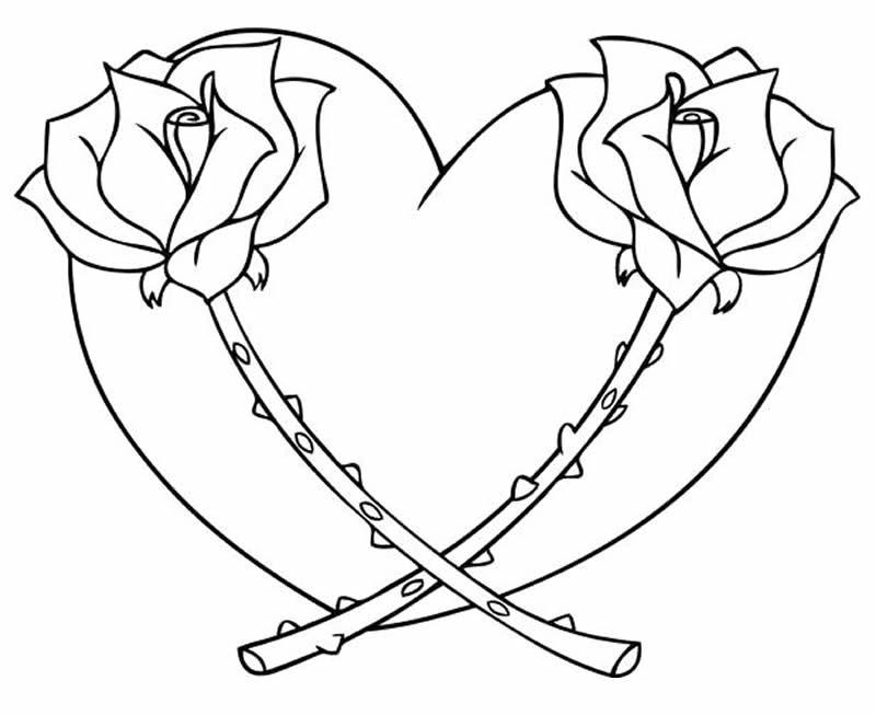 Desenho para colorir de coração