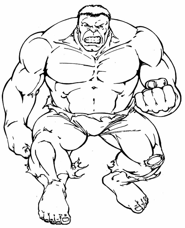 Desenho de Hulk para atividades com as crianças