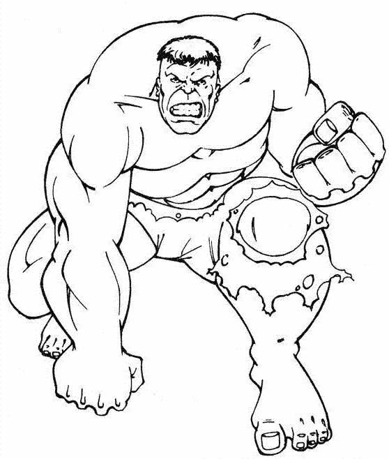Desenho de Hulk para pintar e colorir