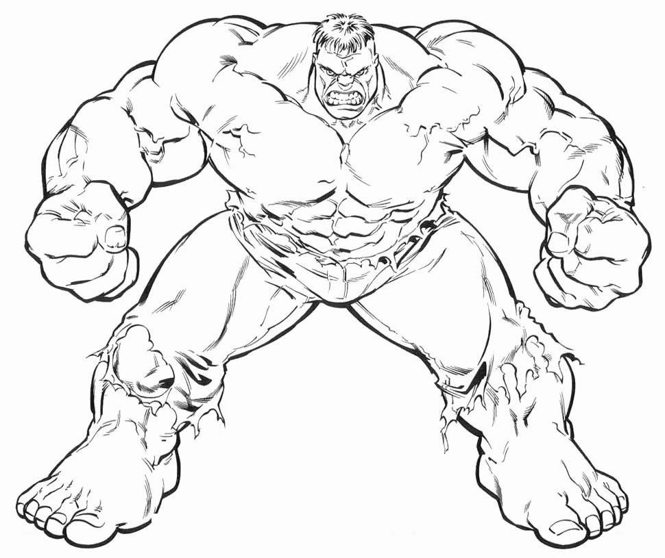 Molde de Hulk para colorir