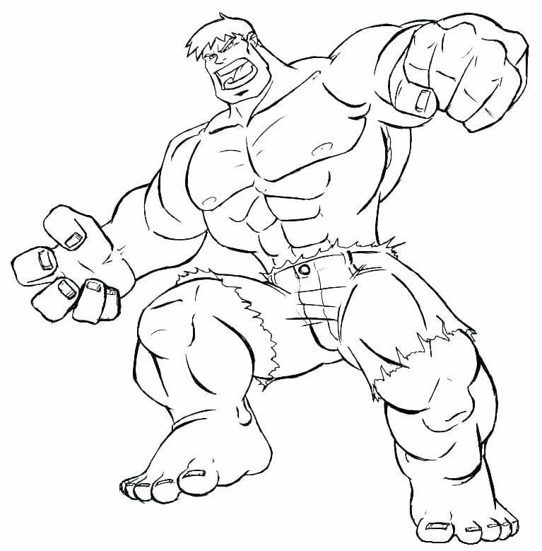 Molde de Hulk para pintar