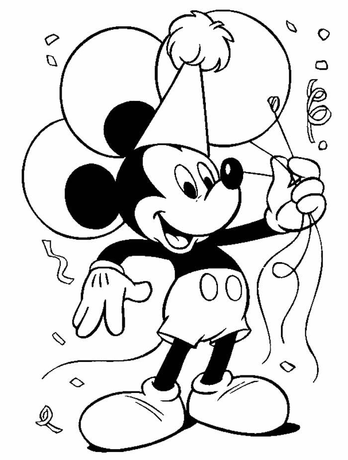 Desenho de Mickey para colorir e imprimir