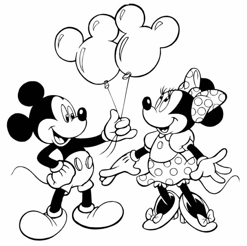 Desenho de Mickey para imprimir e colorir