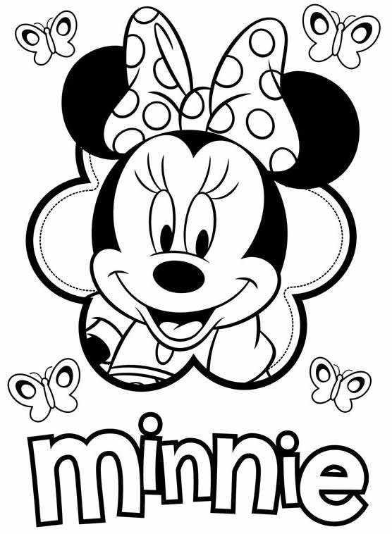 Desenho de Minnie para pintar