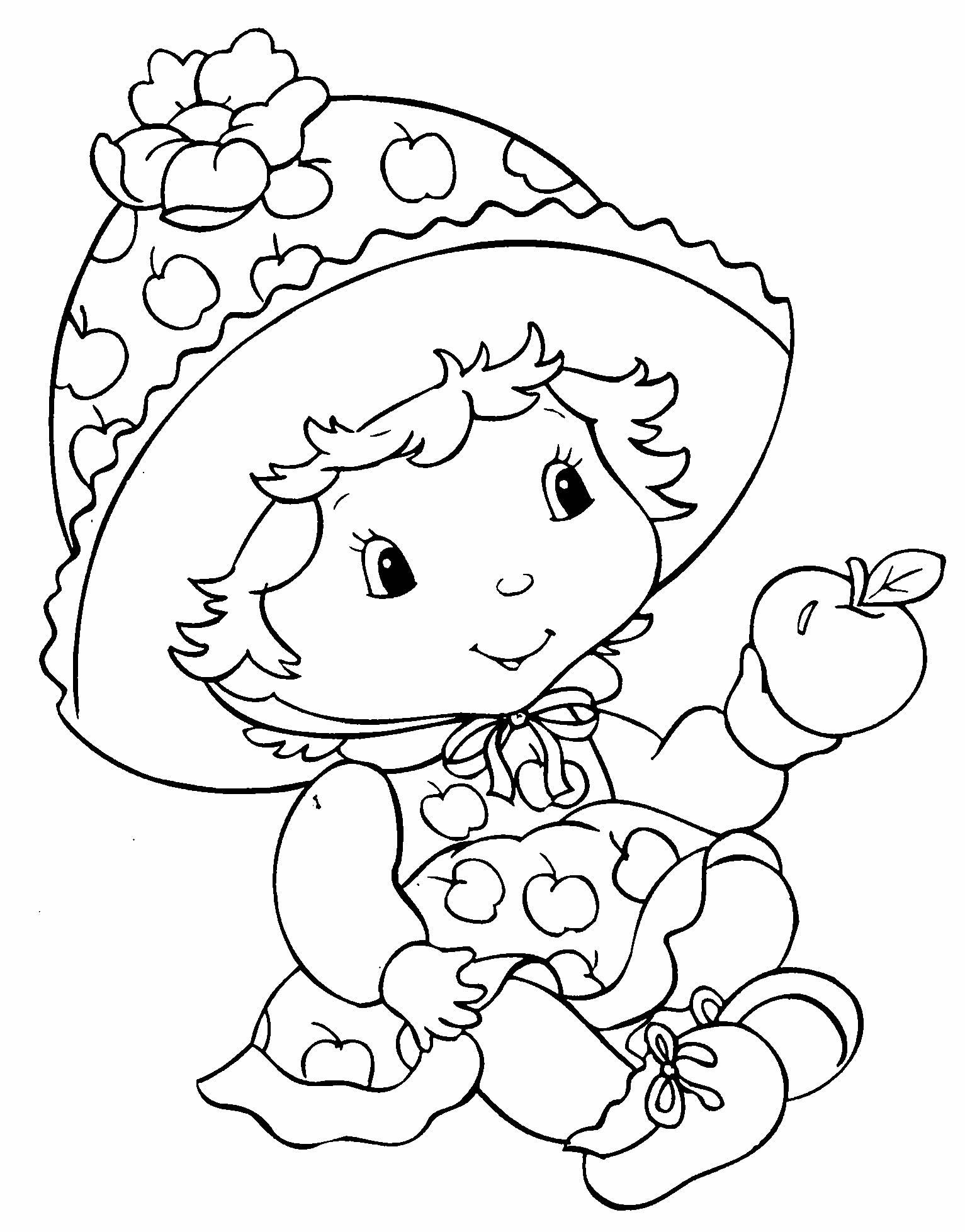 Desenho de Maçãzinha para colorir