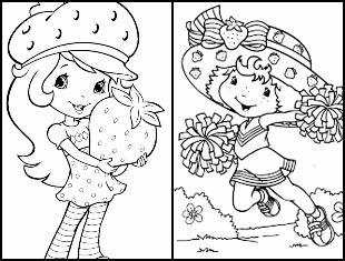 Desenhos da Moranguinho para colorir