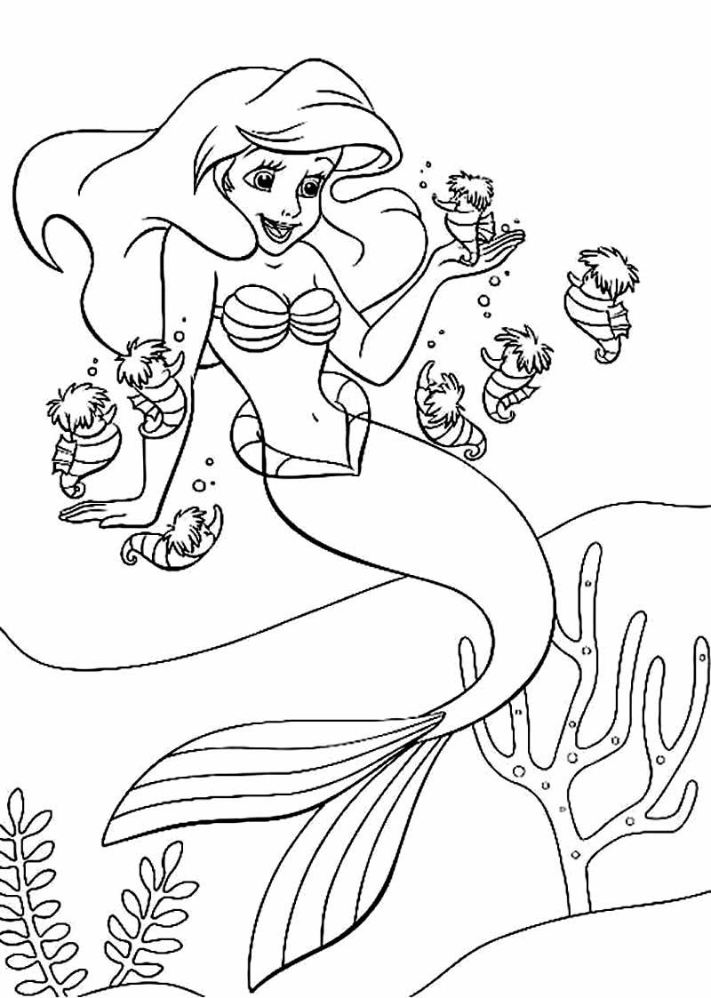 Desenhos De Pequena Sereia Para Colorir Pop Lembrancinhas