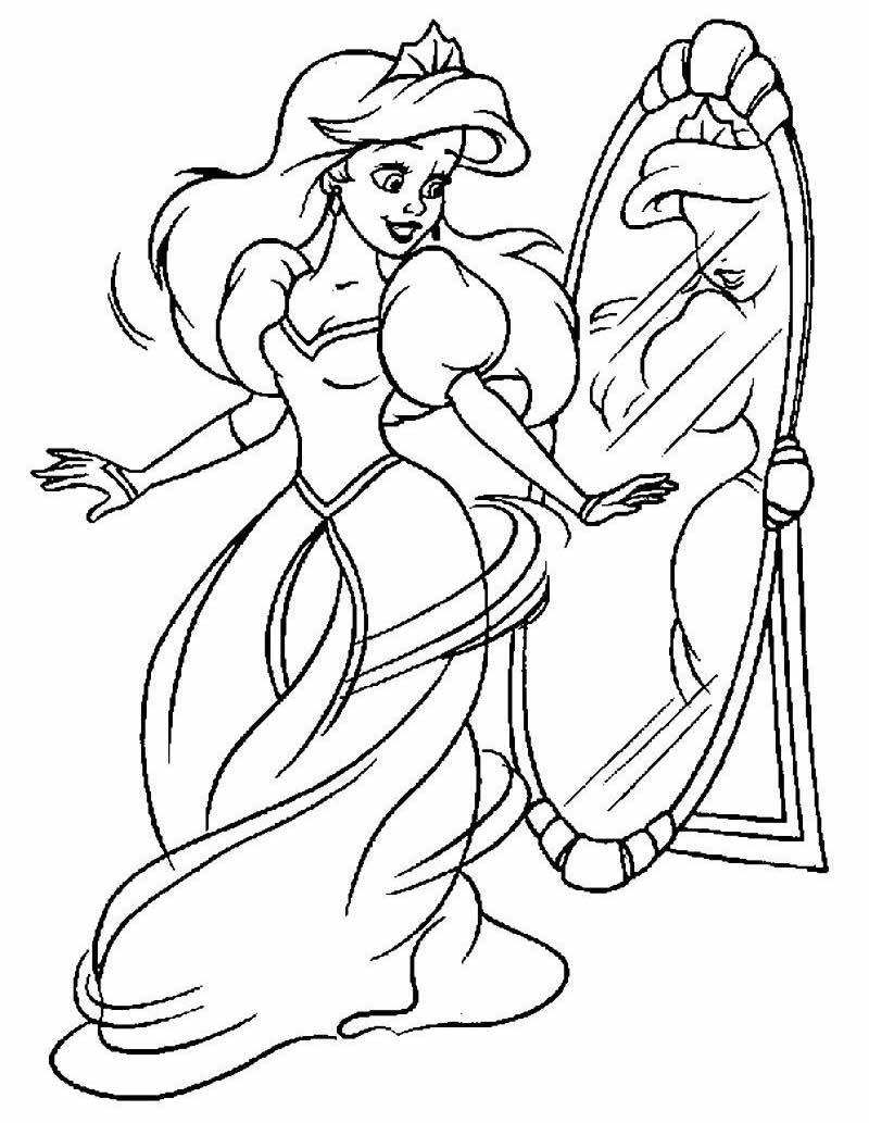 Desenho de colorir da Princesa Ariel