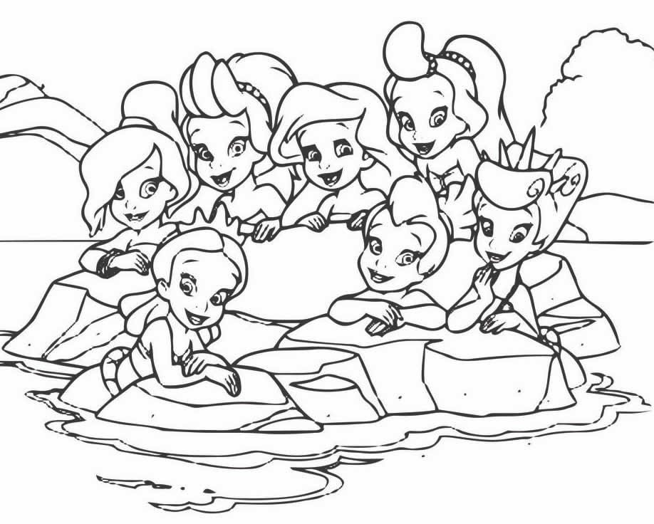 Desenhos da Pequena Sereia