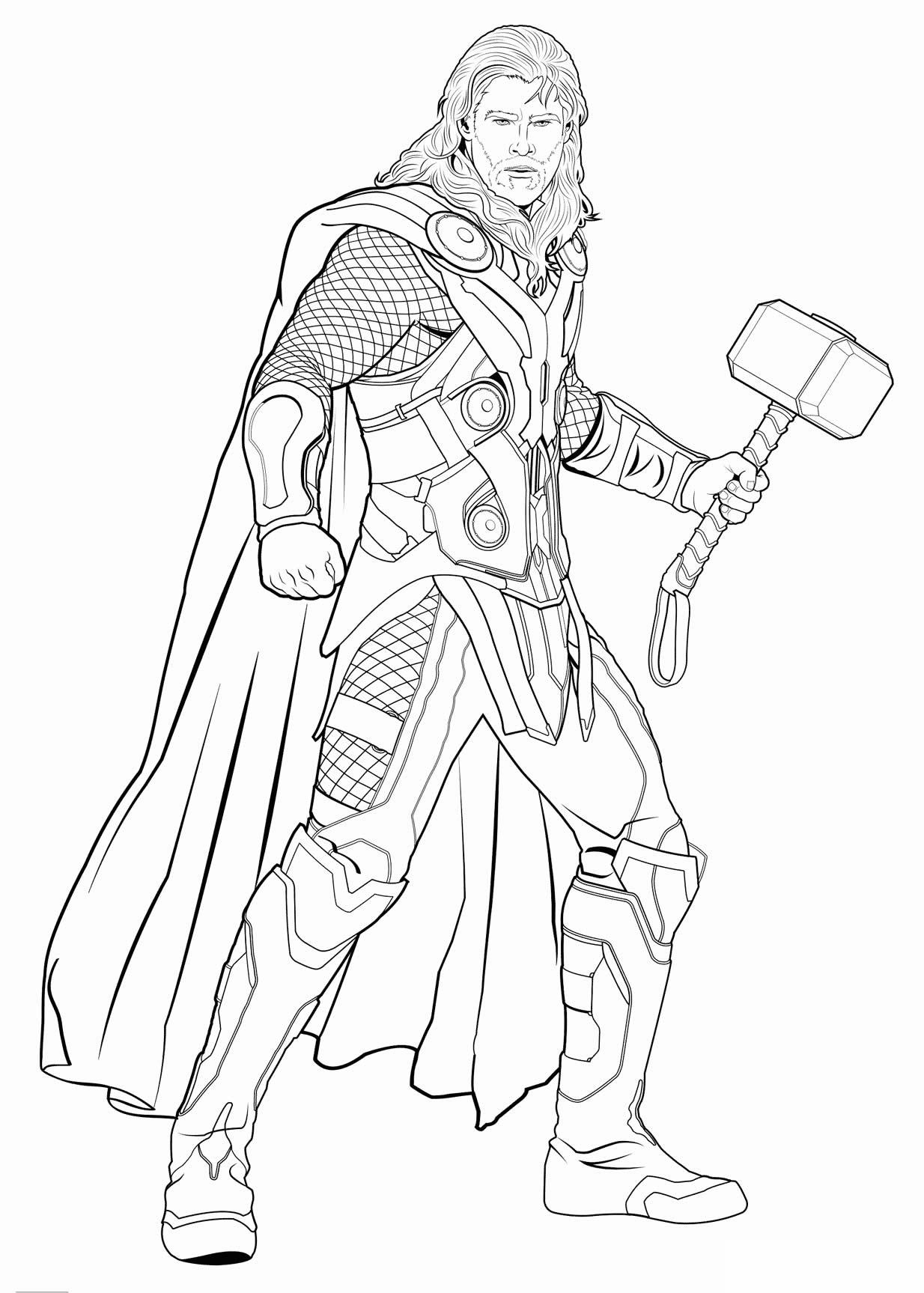 Desenho de Thor para colorir