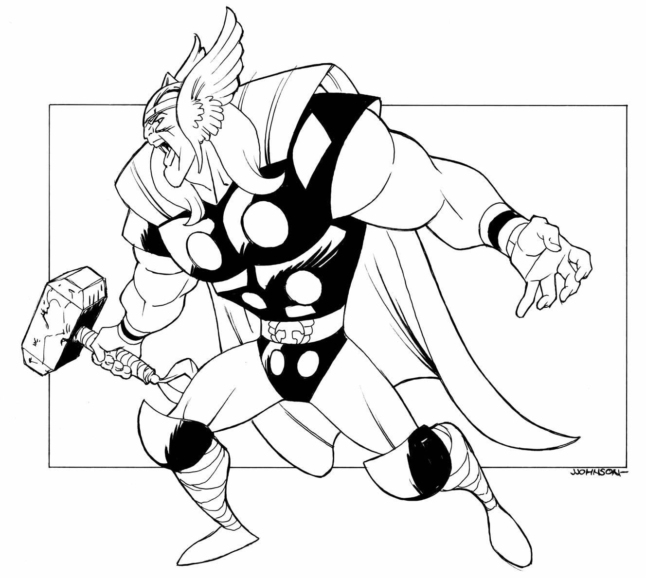 Molde de Thor para pintar e colorir