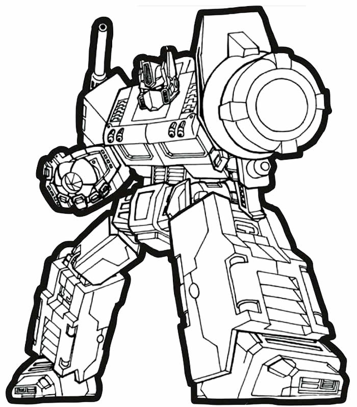 Lindos desenhos de Transformers para colorir