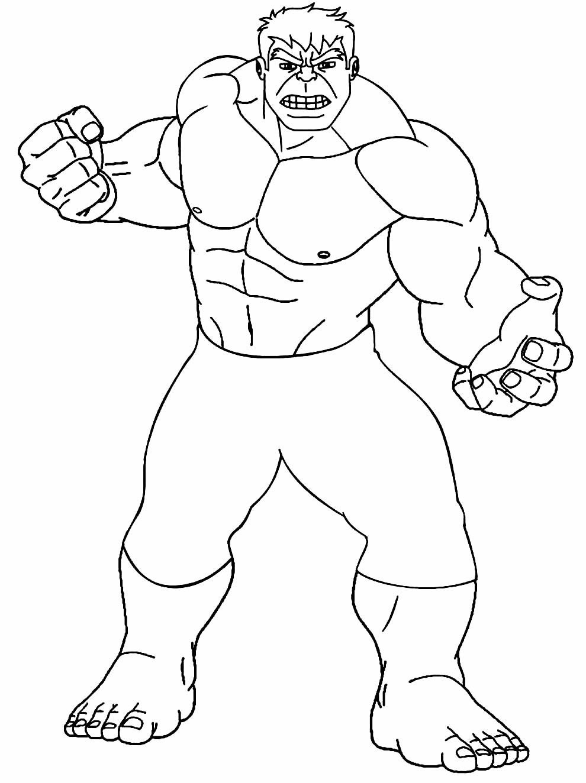 Desenho do Hulk para colorir