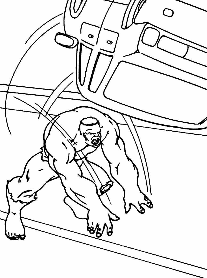 Risco do Hulk para pintar