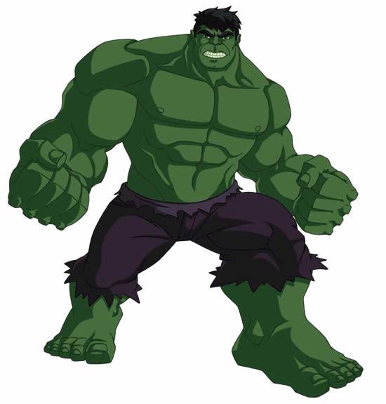 Desenho do Hulk