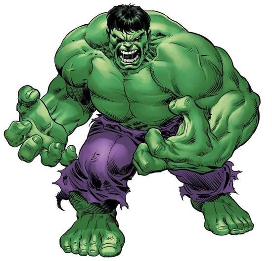 Molde colorido do Hulk