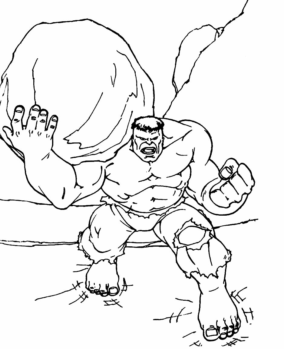 Risco do Hulk para colorir