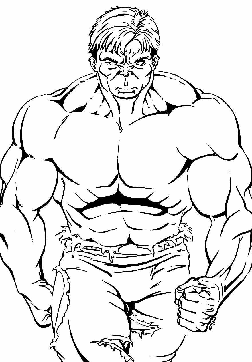 Modelo do Hulk para colorir