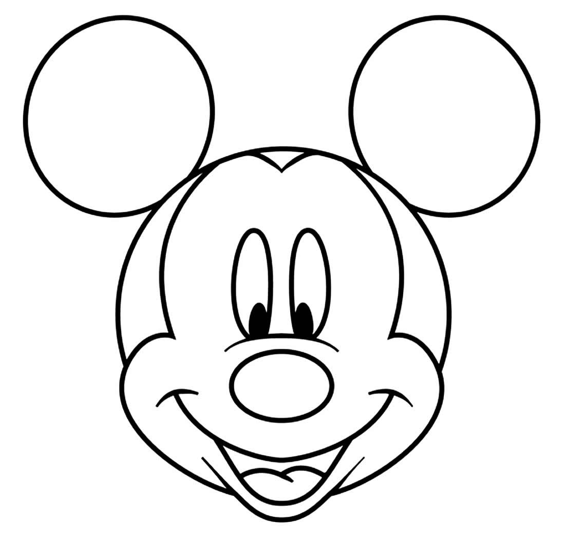 Desenho do Mickey Mouse para pintar