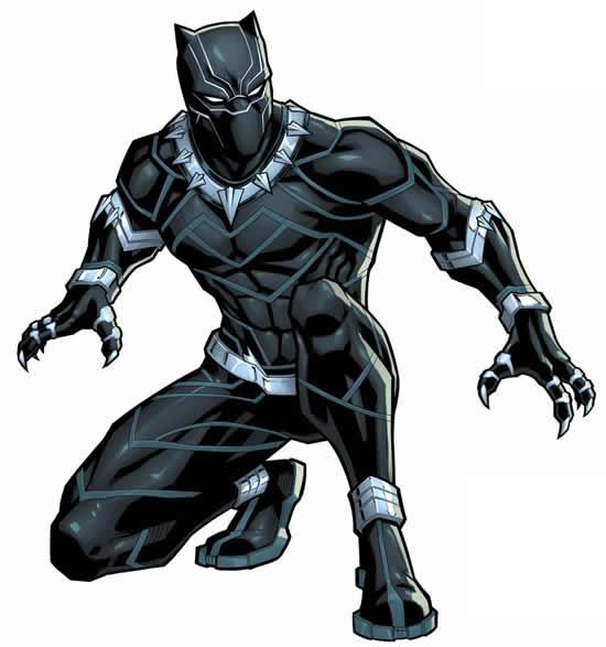 Desenho do Pantera Negra