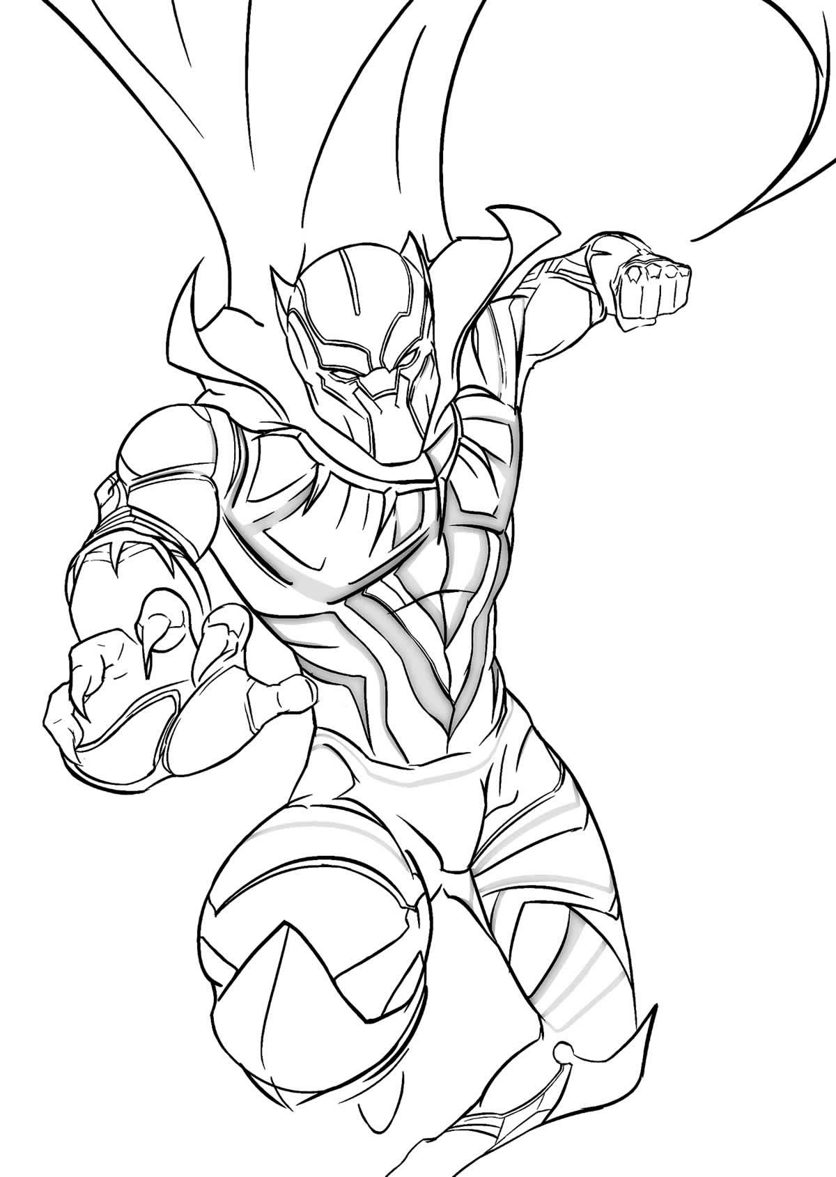 Desenho do Pantera Negra para colorir