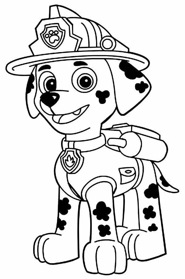 Desenho de Patrulha Canina para pintar