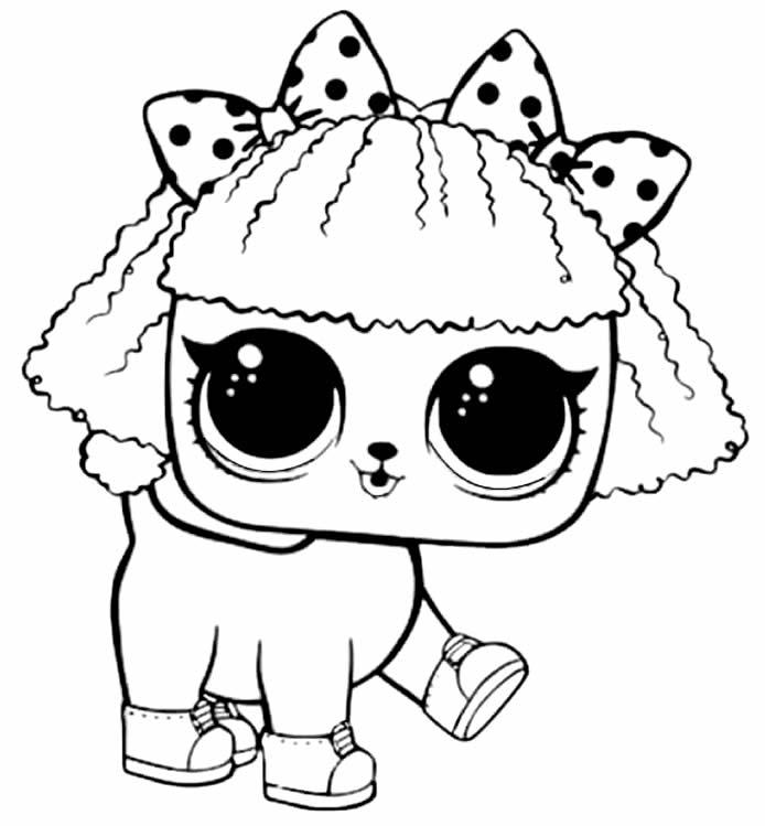 Desenho de pet da boneca LOL