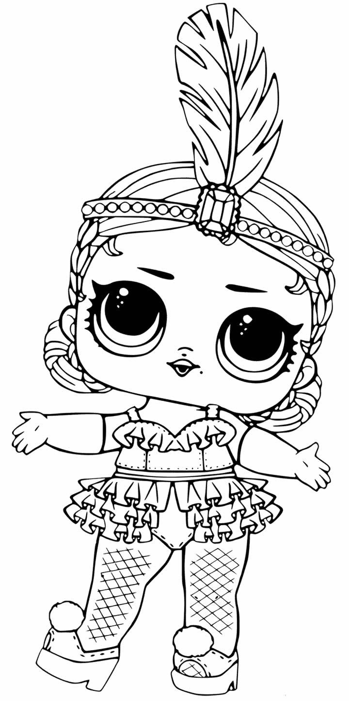 Molde de boneca LOL para colorir