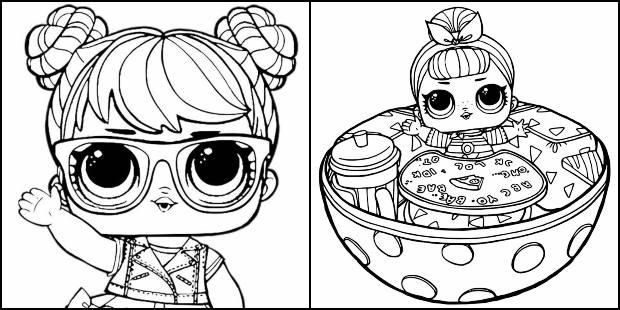 Desenhos da boneca LOL para colorir