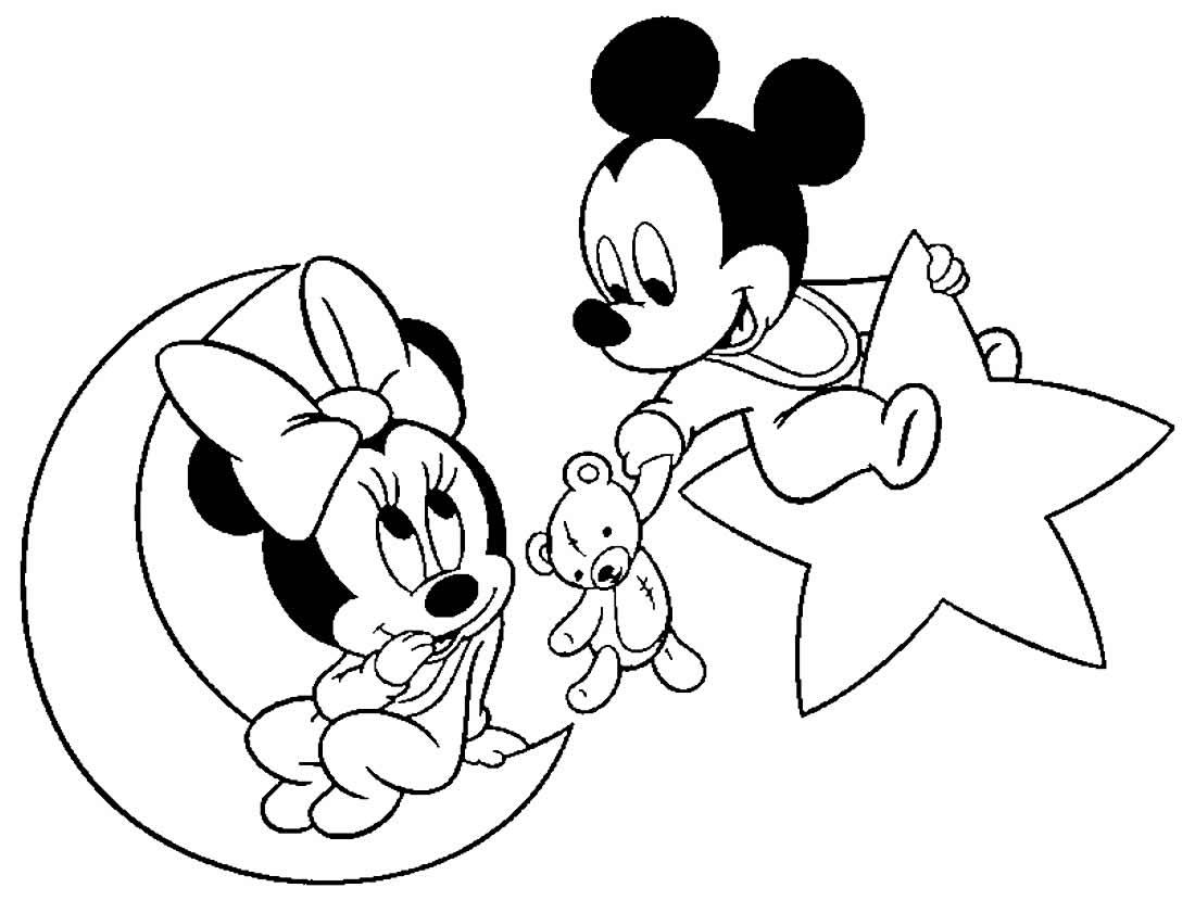 Imagem da Minnie para pintar