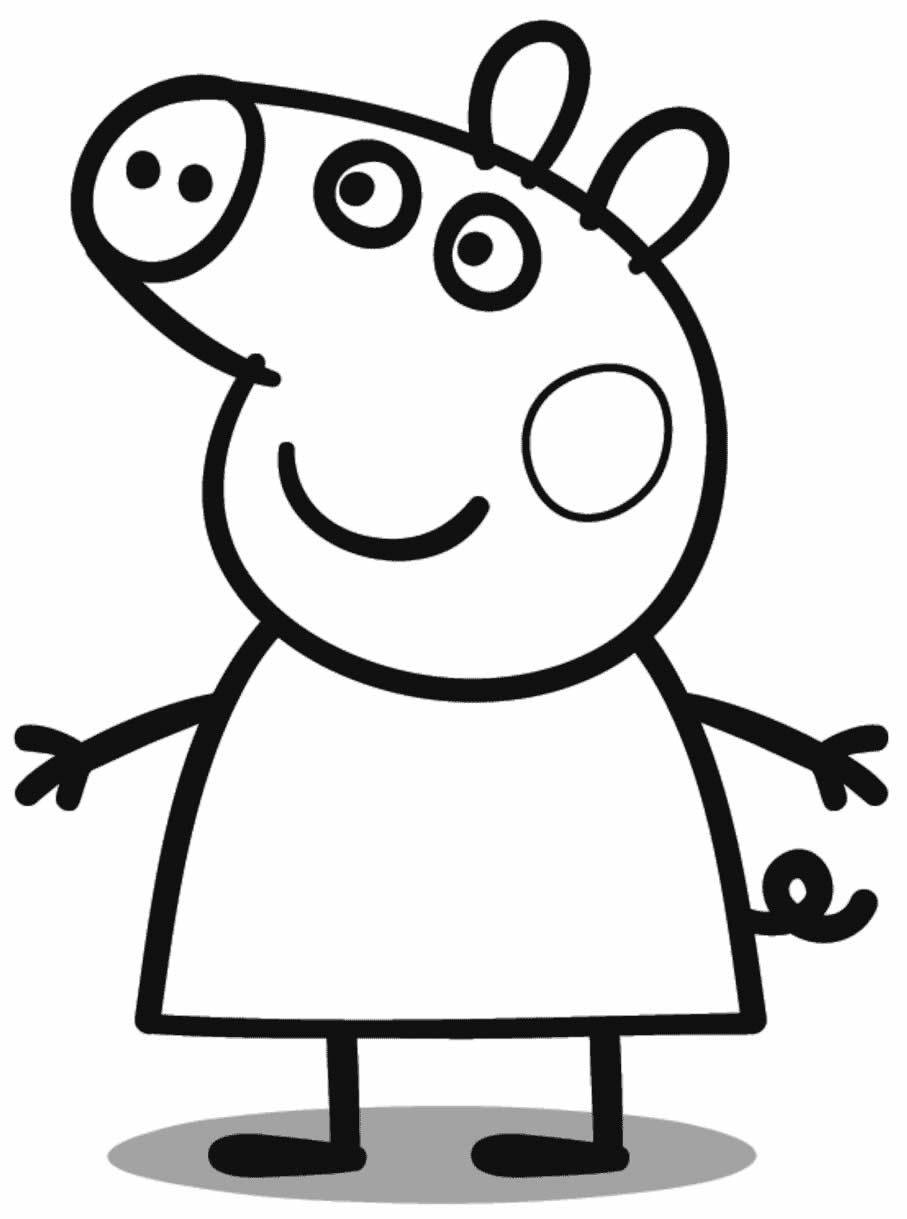 Molde da Peppa Pig para colorir