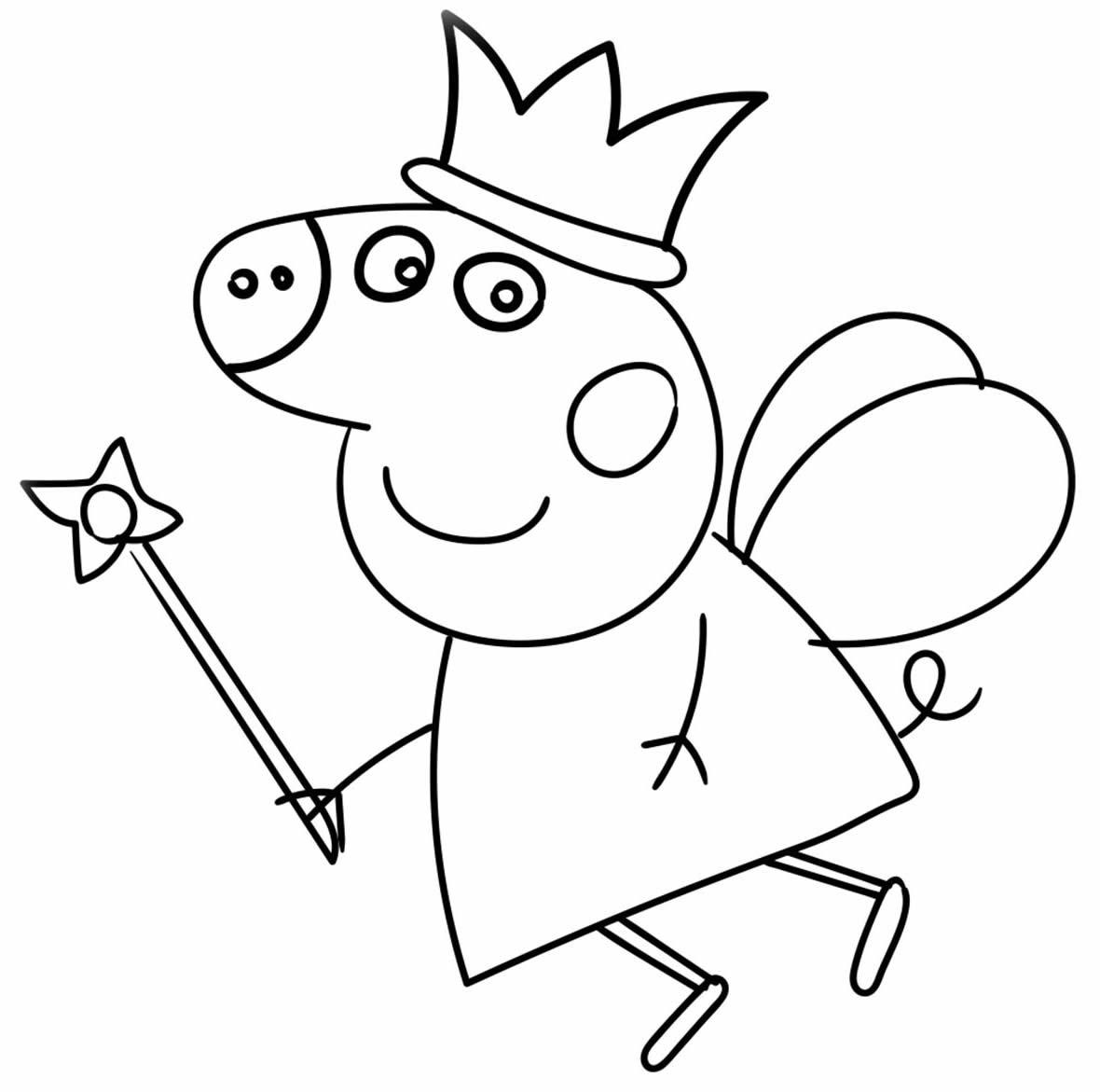 Molde da Peppa Pig para pintar
