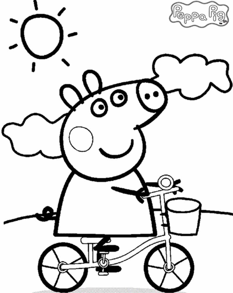 Desenho da Peppa Pig para pintar