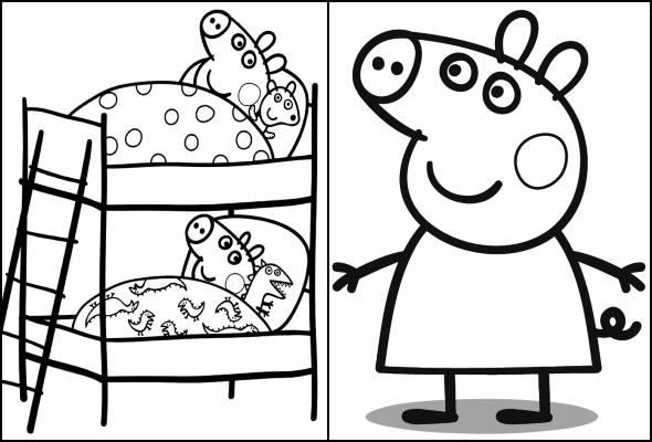 Desenhos Da Peppa Pig Para Colorir Pop Lembrancinhas