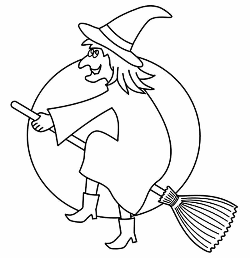 Molde de bruxa para pintar