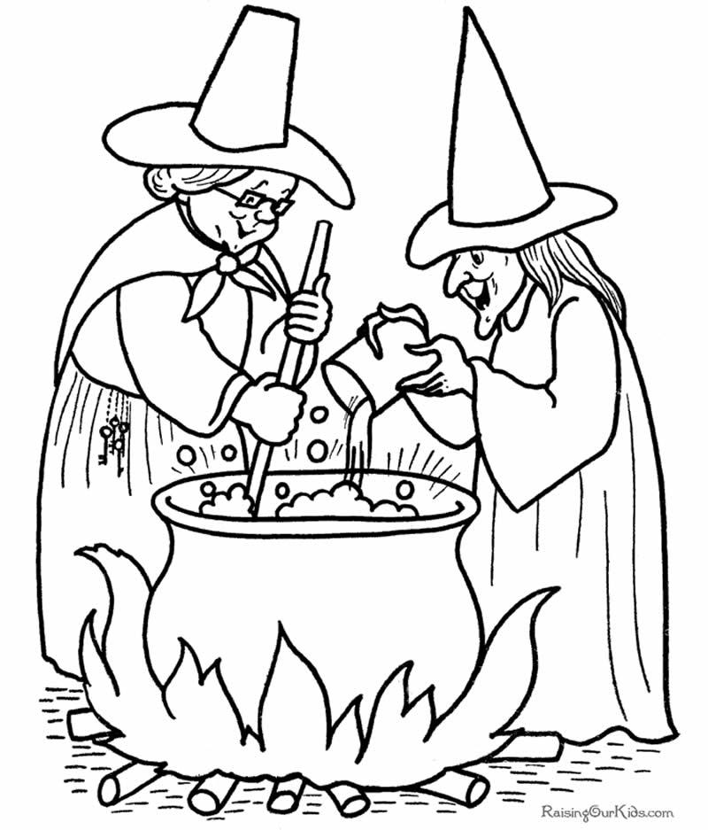 Desenho de bruxa para colorir