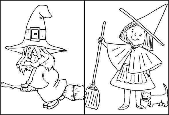 Desenhos De Bruxa Para Pintar E Colorir Pop Lembrancinhas