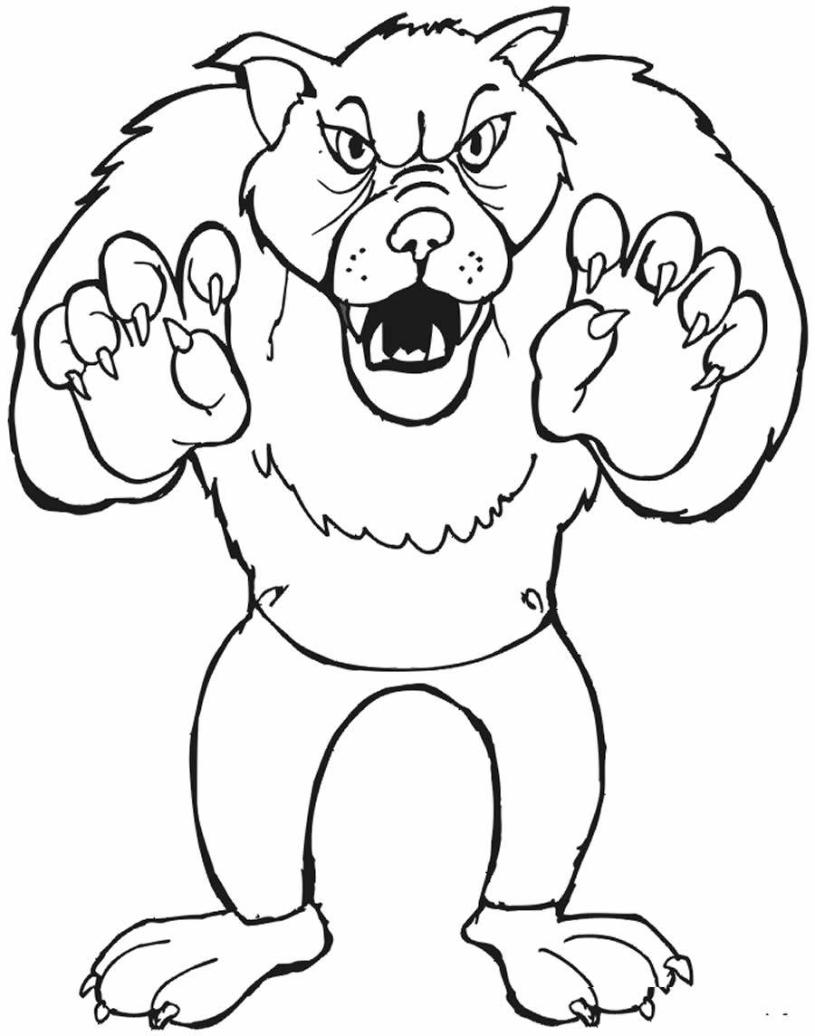 Imagem do Lobo Mau para pintar