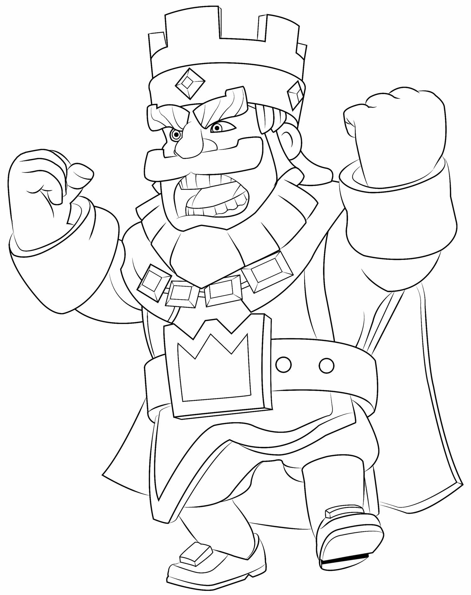 Desenho para colorir de Clash of Clans - Rei