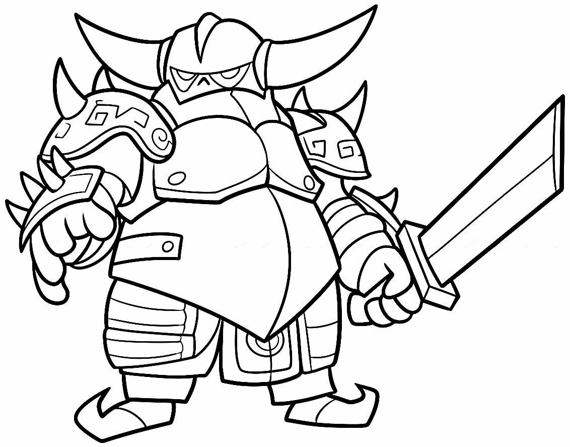Desenho de Clash of Clans para colorir - Pekka